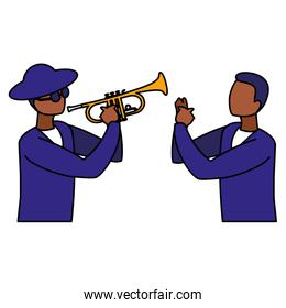 couple of musicians characters