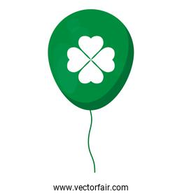 balloon helium with st patrick clover leaf