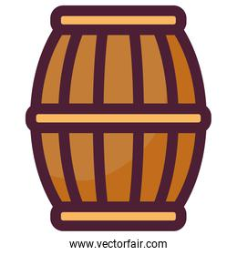 beer wooden barrel icon