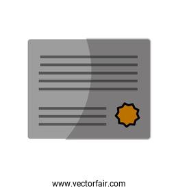 certificate icon image