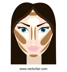 woman face with makeup