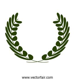 wreath of leaves icon