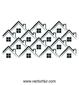 houses pattern icon