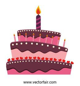 birthday cake with candles icon