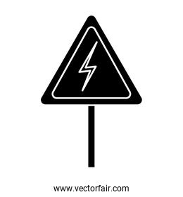 electrical warning sign icon