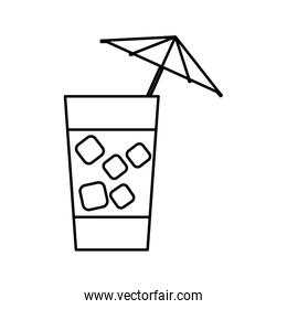 cocktail drink design  silhouette