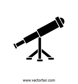 vintage telescope icon