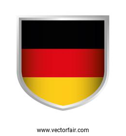 shield with germany flag icon