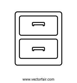 office drawers icon