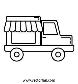 store truck linear icon