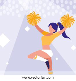 woman cheerleader isolated icon