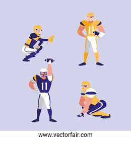 american football team character