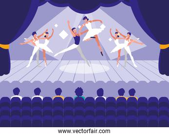 stage with show ballet scene