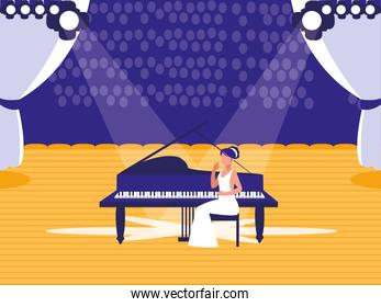 stage with pianist show