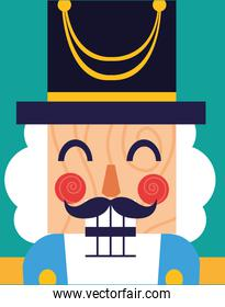 face of nutcracker general toy icon