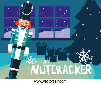 nutcracker soldier with tree christmas