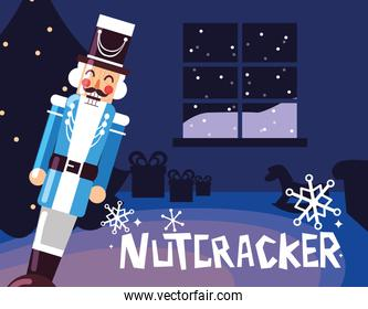 nutcracker general with tree christmas