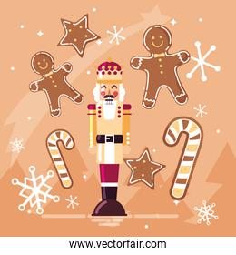 nutcracker king with ginger cookie and cane