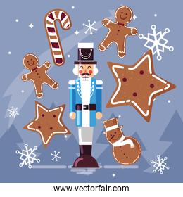 nutcracker general with ginger cookie and cane
