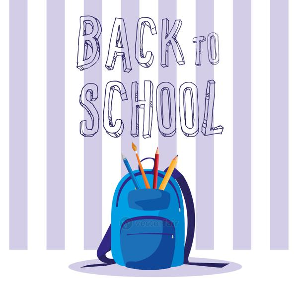 back to school bag with supplies