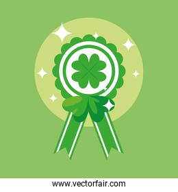 st patrick day and medal with clover