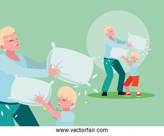 Father playing with son design