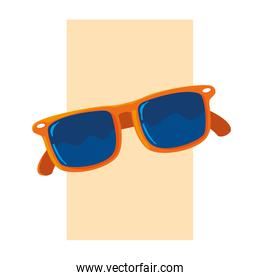 Summer and red glasses design