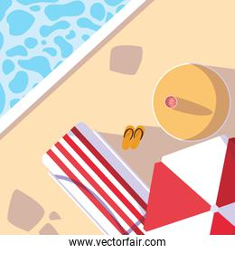 Hello summer and vacation design