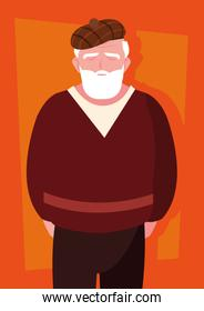 old man with beard avatar character