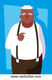 fat old man avatar character