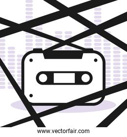 banner with cassette tape music