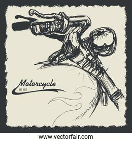 Motorcycle design.