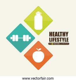 healthy lifestyle  , Vector Illustration