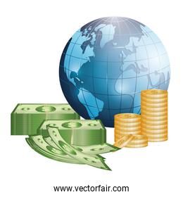 Business, money and global economy