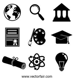 Education and elearning icons