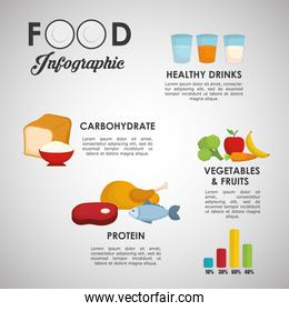Infographics food design, vector illustration