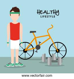 Healthy lifestyle design, vector illustration