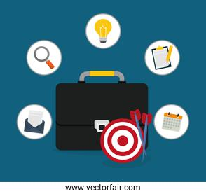 Digital marketing and ecommerce design, vector illustration