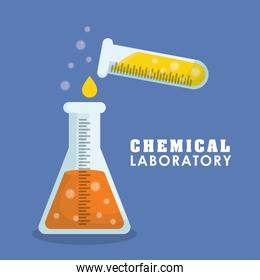 Graphic design of Chemical Laboratory , vector illustration