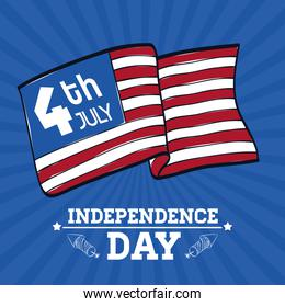 Independence day. Usa icon. Celebration concept , vector