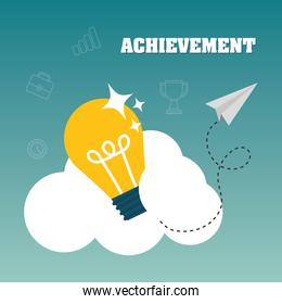 Achievement design. Success icon. Colorful design , vector