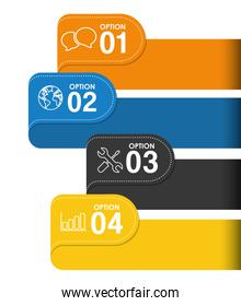 Infograhic design. Data icon. Colorful illustration , vector