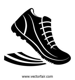 running shoes design. sport concept, vector graphic