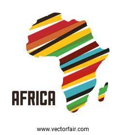 map of africa isolated icon