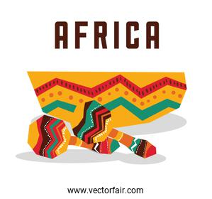 Africa design. maracas instrument icon, vector graphic