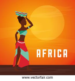 Africa design. woman avatar icon, vector graphic