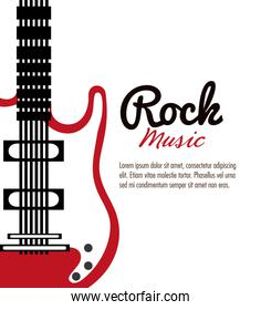 electric guitar icon. Music instrument. vector graphic