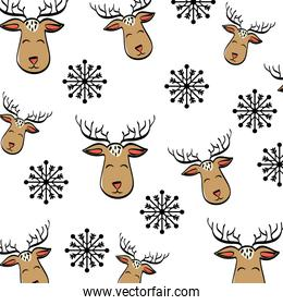 deer cartoon icon. Merry Christmas. vector graphic