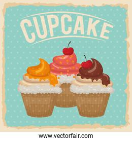 Cupcake icon. Dessert and sweet design. Vector graphic