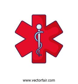 medical symbol with cross and needle
